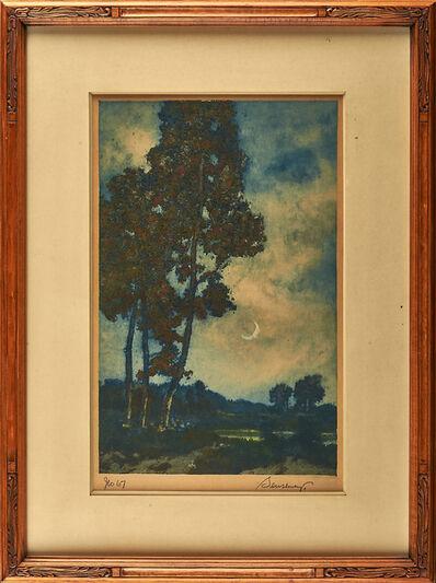 "George Senseney, 'Color aquatint, ""Ipswich Nocturne""'"