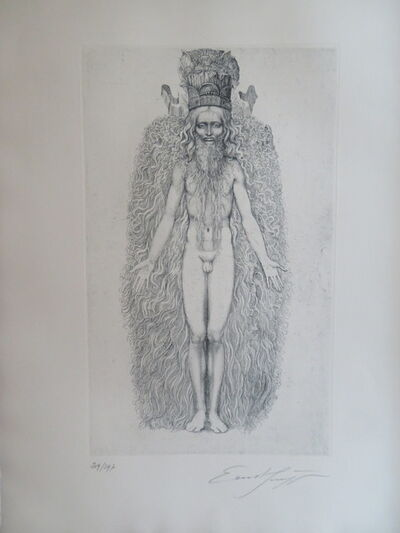 Ernst Fuchs, 'KABBALAH - 32 PATHS TO WISDOM #5', 1978
