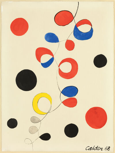 Alexander Calder, 'Untitled (Spirals and Circles)', 1968
