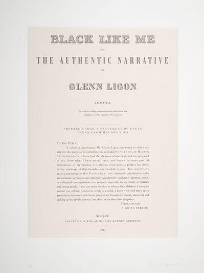 Glenn Ligon, 'Untitled, from the portfolio Narratives', 1993