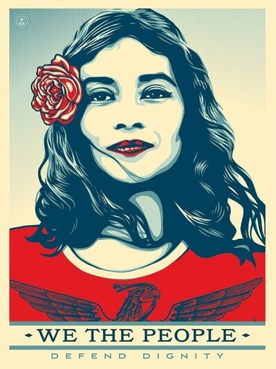 Shepard Fairey (OBEY), 'WE THE PEOPLE Defend Dignity', 2017