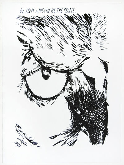 Raymond Pettibon, 'Untitled (By Them Judgeth...)', 2018
