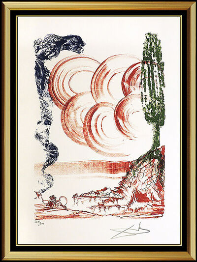 Salvador Dalí, 'Salvador Dali Color Lithograph Hand Signed Calibri Atomo Large Surreal Artwork', 1973