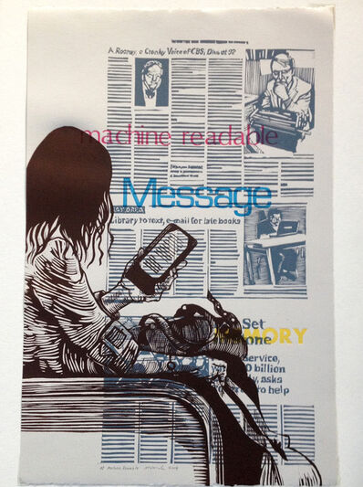 Mary V. Marsh, 'Machine Readable: message, ereader', 2014