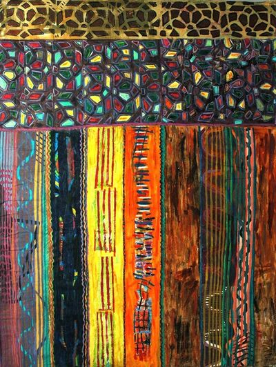 Pacita Abad, 'Stained glass door in Sanaa', 1998