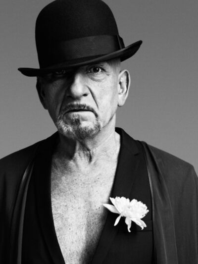 Bryan Guy Adams, 'Sir Ben Kingsley, Portrait with flower London', 2010