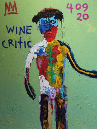 Michael Snodgrass, 'Blue Faced Wine Critic', 2020
