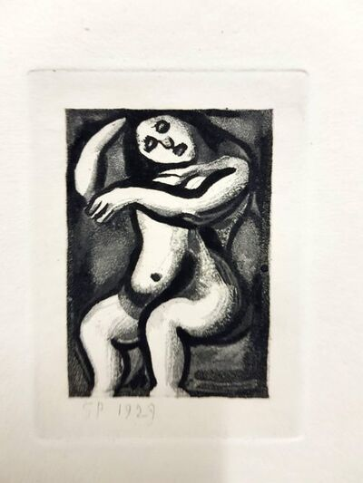 "Georges Rouault, 'Original Etching ""Ubu the King IX"" by Georges Rouault', 1955"