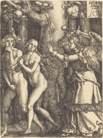 Heinrich Aldegrever, 'Expulsion from Paradise', 1540