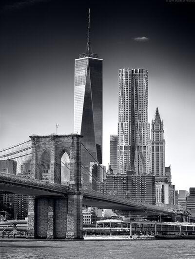 Andrew Prokos, 'Brooklyn Bridge and Lower Manhattan Skyscrapers', 2017
