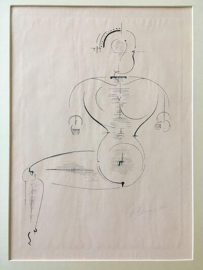 """Oskar Schlemmer, 'Figur von de Seite from Bauhaus Portfolio """"Figurine of the Page""""', 1922"""