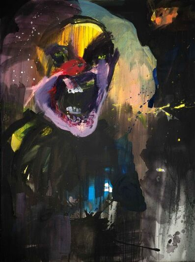 Rainer Fetting, 'mad clown', 2017