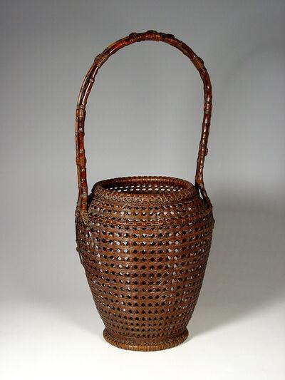 Tanabe Chikuunsai I, 'Bamboo Ikebana Basket (T-0597)', Showa era (1926-89) ca. 1930