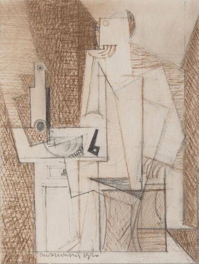 Louis Marcoussis, 'Portrait de Georges Hugnet', 1930