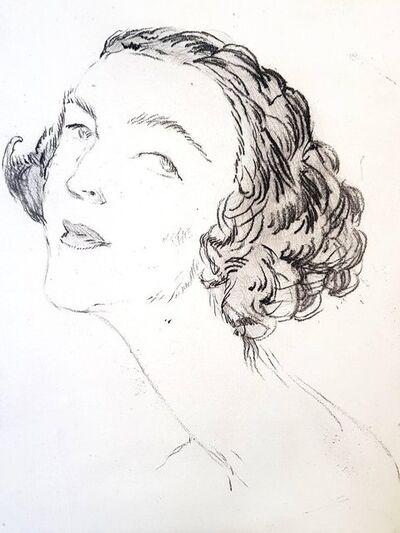 "Jean Gabriel Domergue, 'Original Etching ""Portrait"" by Jean-Gabriel Domergue', 1924"