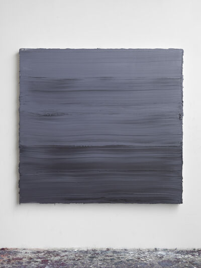 Jason Martin, 'Untitled (Graphite Grey/ Titanium White/ Prussian Blue) II', 2018
