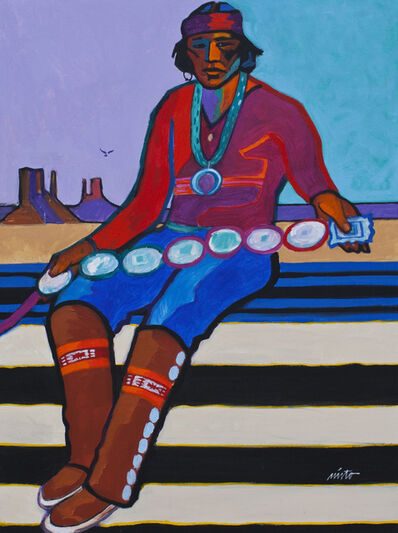 John Nieto, 'Navajo Man with Concho Belt', 2014