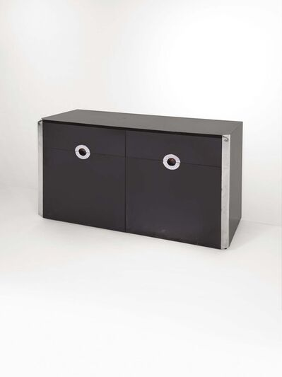 Willy Rizzo, 'A Savage sideboard in wood with chromed metal inserts and corner pieces', 1973