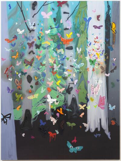 Kim Dorland, 'Butterflies', 2017