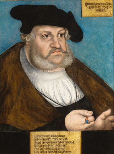 Lucas Cranach the Elder, 'Portrait of Frederick the Wise', 1530-1535