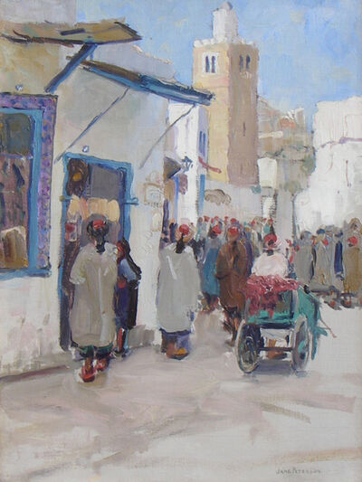 Jane Peterson, 'A Busy Corner Tunis', ca. 1910