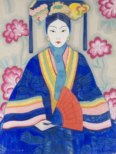 Winold Reiss, 'Mandarin woman with fan'