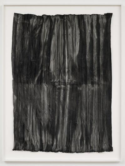 Edith Dekyndt, 'Burned Piece (light blue linen from Tournai)', 2020