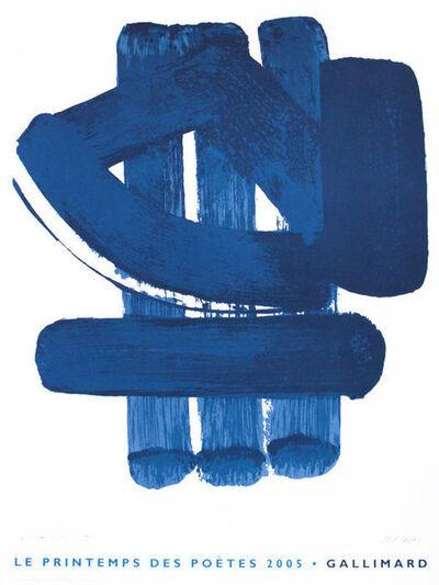Pierre Soulages, 'Les Printemps des Poetes', 2005