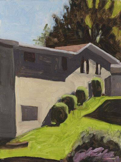 Peter Ligon, 'House with Shrubs', 2017