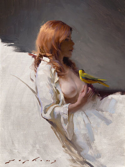 Jeremy Lipking, 'Girl with Tanager', 2018