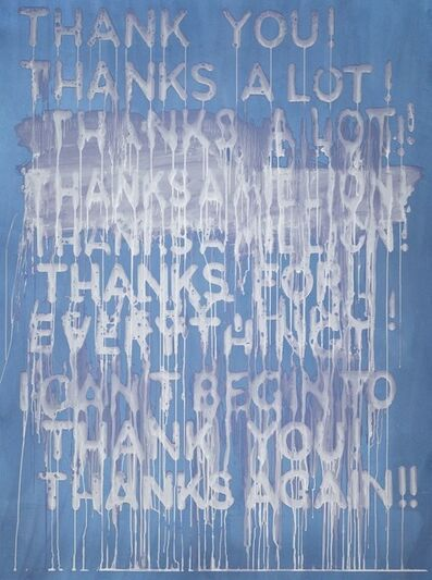 Mel Bochner, 'Thank You ', 2016