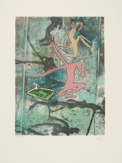 Roberto Matta, 'Centre Noeds plate VI', 1974