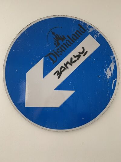 Banksy, 'BANKSY ORIGINAL ARROW ROAD SIGN DISMALAND LTD EDT', 2015