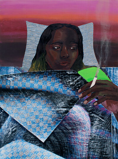 Ally White, 'Smoking in Bed', 2016