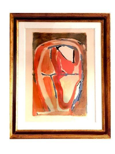 "Bram van Velde, 'Original Lithograph ""Red"" by Bram Van Velde', Circa 1950"