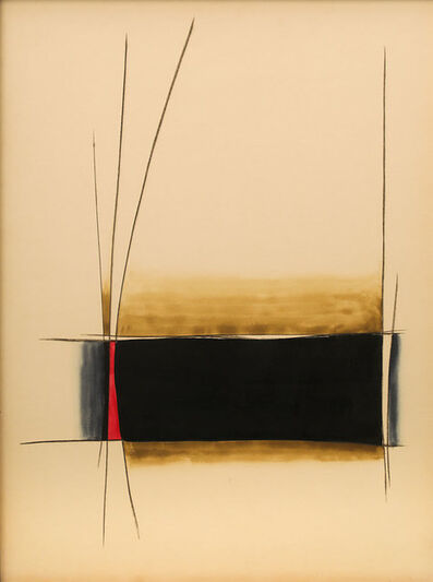 Gopi Gajwani, 'Resting Red with Black', 1985