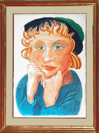 David Hockney, ' Celia with Green Hat', 1984
