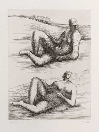 Henry Moore, 'Two reclining figures', 1977 -1978