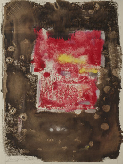 Dorothy Dehner, 'Untitled (Abstraction in Red and Brown)', 1963