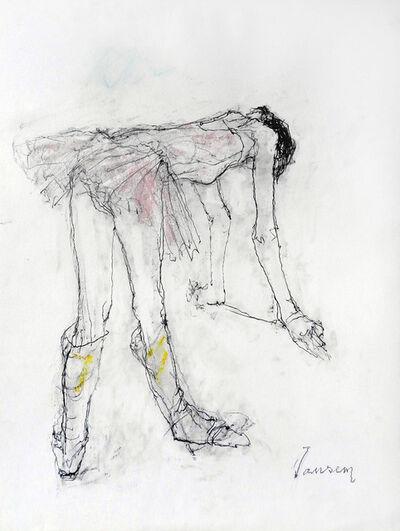 Jean Jansem, 'Ballerina in pink and yellow socks', 2007