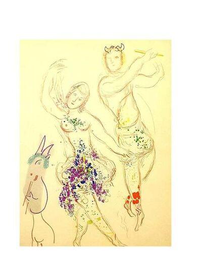 Marc Chagall, 'Marc Chagall - Dahnis and Chloé - Original Lithograph', 1969