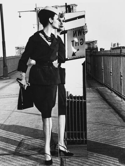 William Klein, 'Mirrors, Brooklyn Bridge, Vogue, New York City, New York', 1962