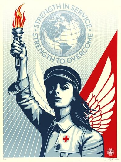 Shepard Fairey, 'Angel of Hope and Strength', 2020