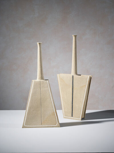 Bruno Gambone, 'Pair of geometric sculptures', 2006