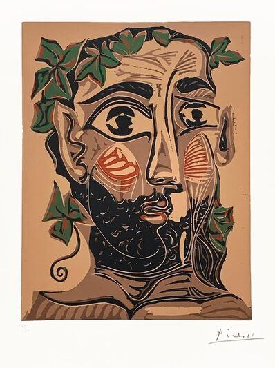 Pablo Picasso, 'Bearded Man, Crowned with Green Leaves (Artist Proof)', 1962
