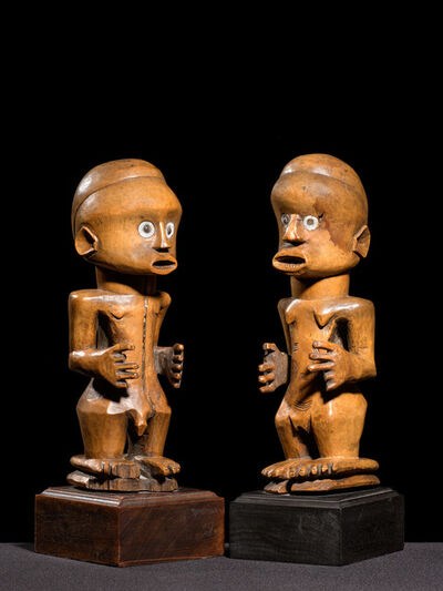 "Unknown Artist, '""Nsapo-Nsapo"" Male and Female figure ', ca. 19"
