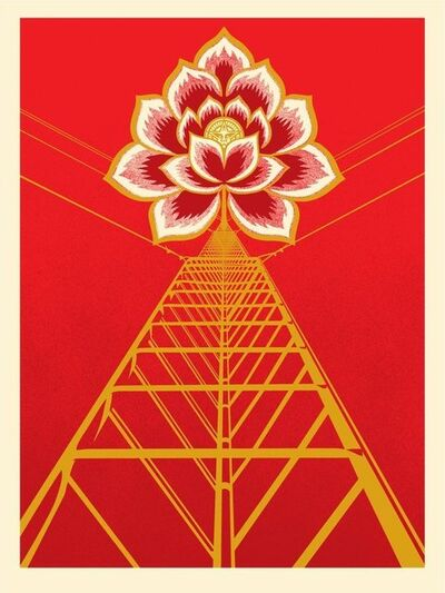 Shepard Fairey, 'Flower Power - Red', 2021