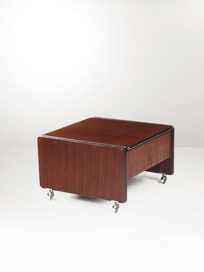 Marco Zanuso, 'A SpringTime low table with a wooden structure and metal and rubber details', 1960 ca.