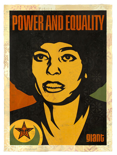 Shepard Fairey, 'Angela Power and Equality', 2019