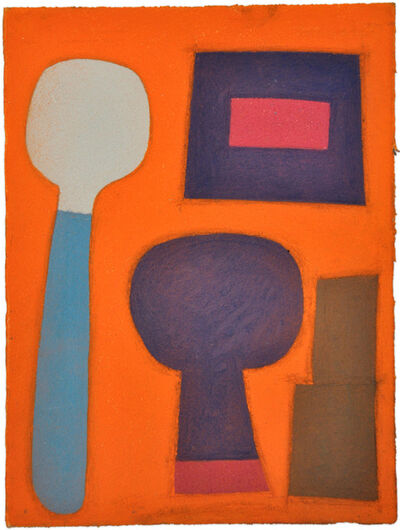 Julian Martin, 'Untitled (shapes on orange)', 2011